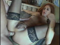 Picture She Takes A Big Load To Her Face - Trans Sex...