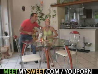 Dildo play and cock riding with his family