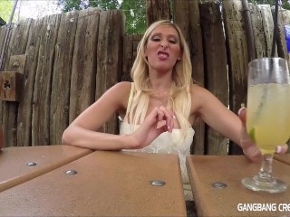 Gangbang Creampie Hot blonde wishes she had more cum in her