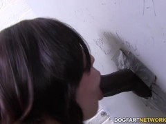 Picture Noelle Easton sucks and fucks black cock at...