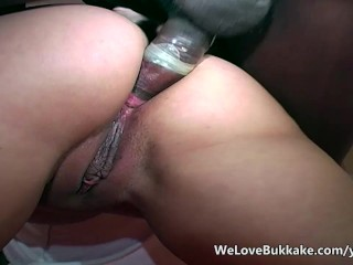 Plaything struggles with big black cocks with facials