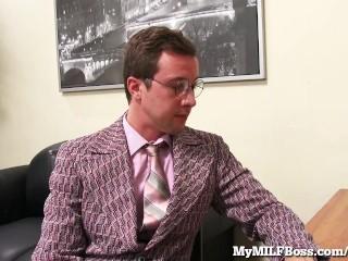 Hot MILF Boss Gets Fucked On Her Desk!