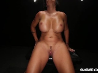 Gangbang Creampie Horny milf gets her desire filled