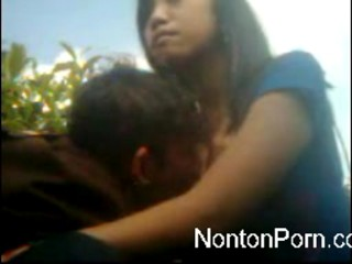 Young couple fucking outdoor