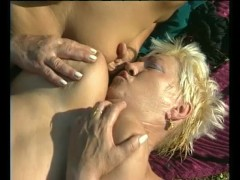 Picture Two chubby MILF s sharing a cock - Julia Rea...