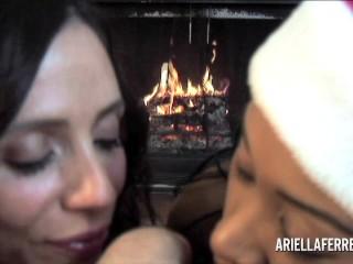 Threesome POV Blowjob - Ariella Ferrera and Yasmine De Leon