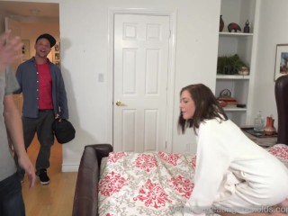 Molly Manson Fucked and Creampied While Cuckolding Her Husband