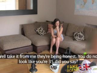 FakeAgentUK Big facial for web cam girl in casting