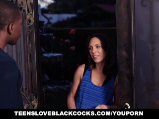 TeensLoveBlackCocks - Teen Washes Car For some Big Black Cock