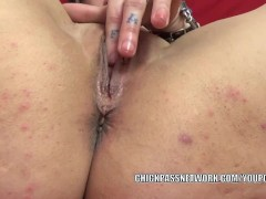 Picture Tattooed plumper Lexxi Meyers is playing wit...