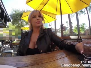 Gangbang Creampie 6 dicks cum inside her tight pussy