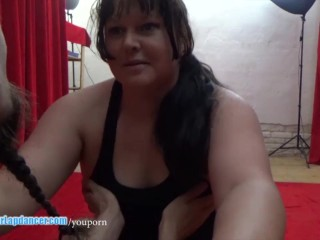 Horny BBW does lapdance, BJ and gets fucked in missionary