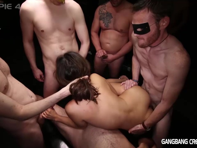Black Rough Asian Gangbang