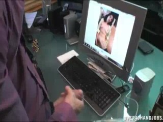 Two Milfs Catch Guy Jerking Off To Nude Pics On PC