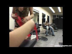 Picture Submissive Krystal Jordans tied and ballgagg...