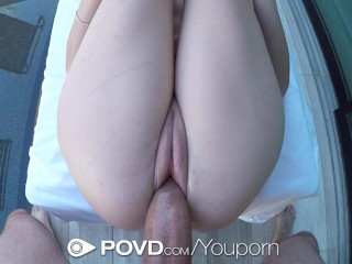 POVD – Outdoor fucking in pov with young Bella Skye