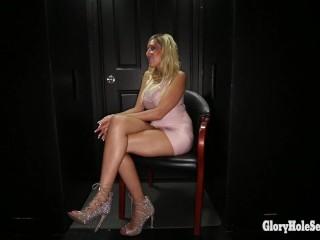 Gloryhole Secrets Hollywood girl swallows 11 strangers cum