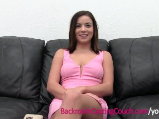 Waitress Does First Time Anal on Casting Couch