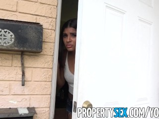 PropertySex - Bubble butt Latina tenant misinterprets landlord and fucks him