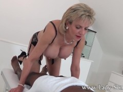 Picture Lady Sonia black guy massage with happy endi...