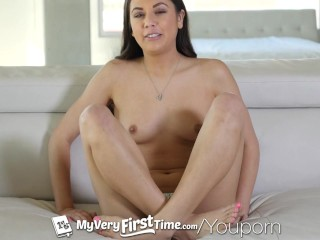 MyVeryFirstTime - Baby voice Lucy Doll gets two dicks for the first time