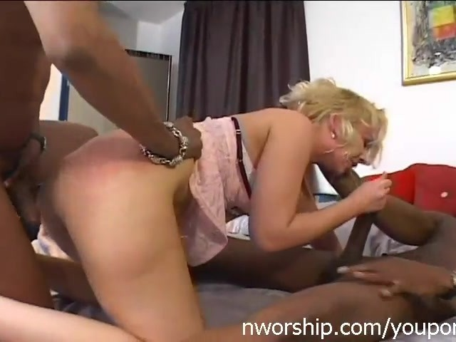 Black Dick Anal Threesome
