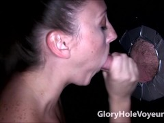 Picture Melanie Hicks Sucks Big Cock in Gloryhole