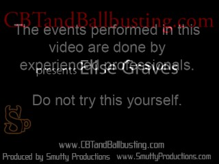 CBT slave get good spanking and ball torture