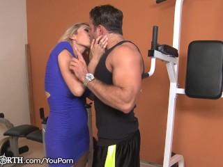 Stepmom Seduces her Son at the Gym