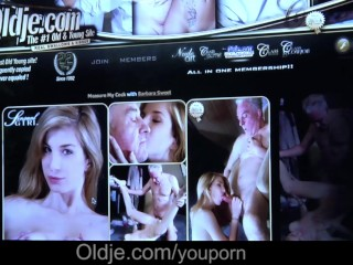 Slim blonde girl rides the hard cock of her old man greedly