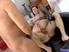 Picture Stockings milf gets doublepenetration in tri