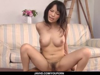 Busty horny mom, Kyouko Maki, acquires pounded in crazy