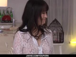 Kyouko Maki enjoys cock deep in her fresh pussy