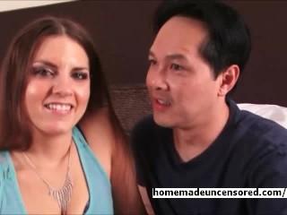 Fun loving couple having sex on camera