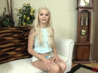 Teen Elsa Jean Cum on Hand