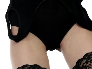 Maia fucking in thigh high stockings and heels