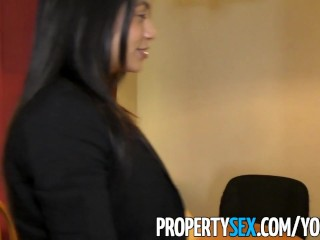 PropertySex - Latina real estate agent squirts while fucking client