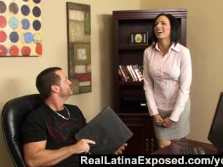 RealLatinaExposed - Naughty Latina Fucked in the Office