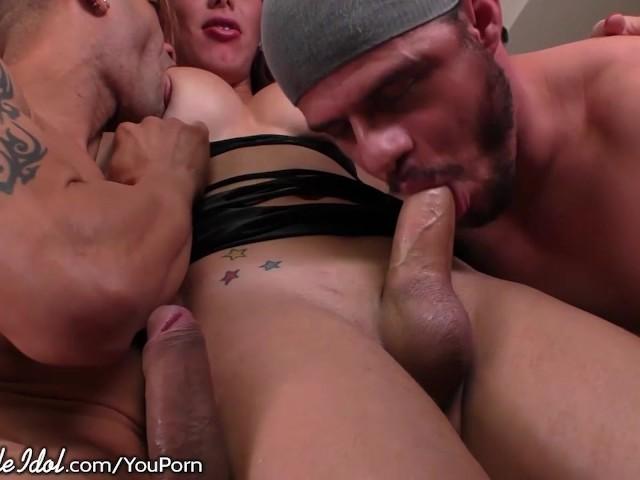 2 Latinas Guy Threesome