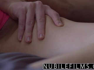 Squirting orgasm during sensual lesbian threesome