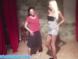 Beauty blonde teaches her friend