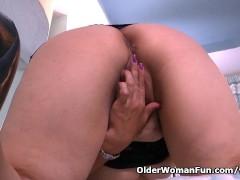 Picture Latina granny Maribel can t control her sex...