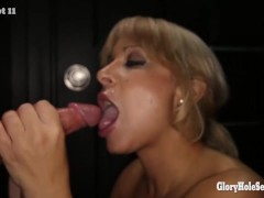 Picture Gloryhole Secrets Alyssa Lynn swallowing mou...