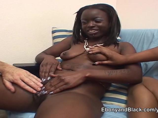 Ebony Creampied White Guy