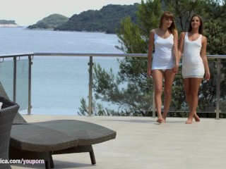 Lovely weekend by Sapphic Erotica - Amirah and Victoria Daniels lesbians