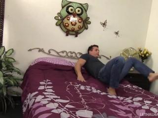 Big Tit pornstar August Taylor fucks facial cum swallow