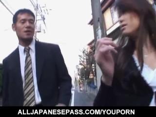 Warin Umino naughty Asian hottie gets exposed pussy banged hard
