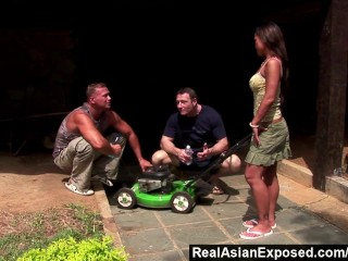 RealAsianExposed - We'll Fix Your Lawnmower If You Let Us Fuck You