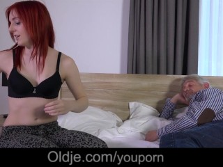 Vannessa begs old man to gives her a doggie