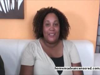 BBW plumper amateur couple recording sex tape at home